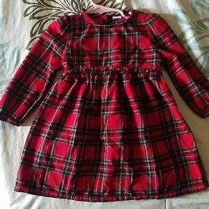 Red Plaid flannel dress